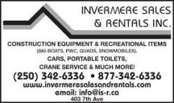 INVERMERE SALES & RENTALS INC.