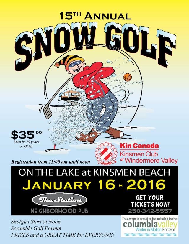 Snow golf poster 2016