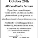 Submit Questions to Local Government Candidates