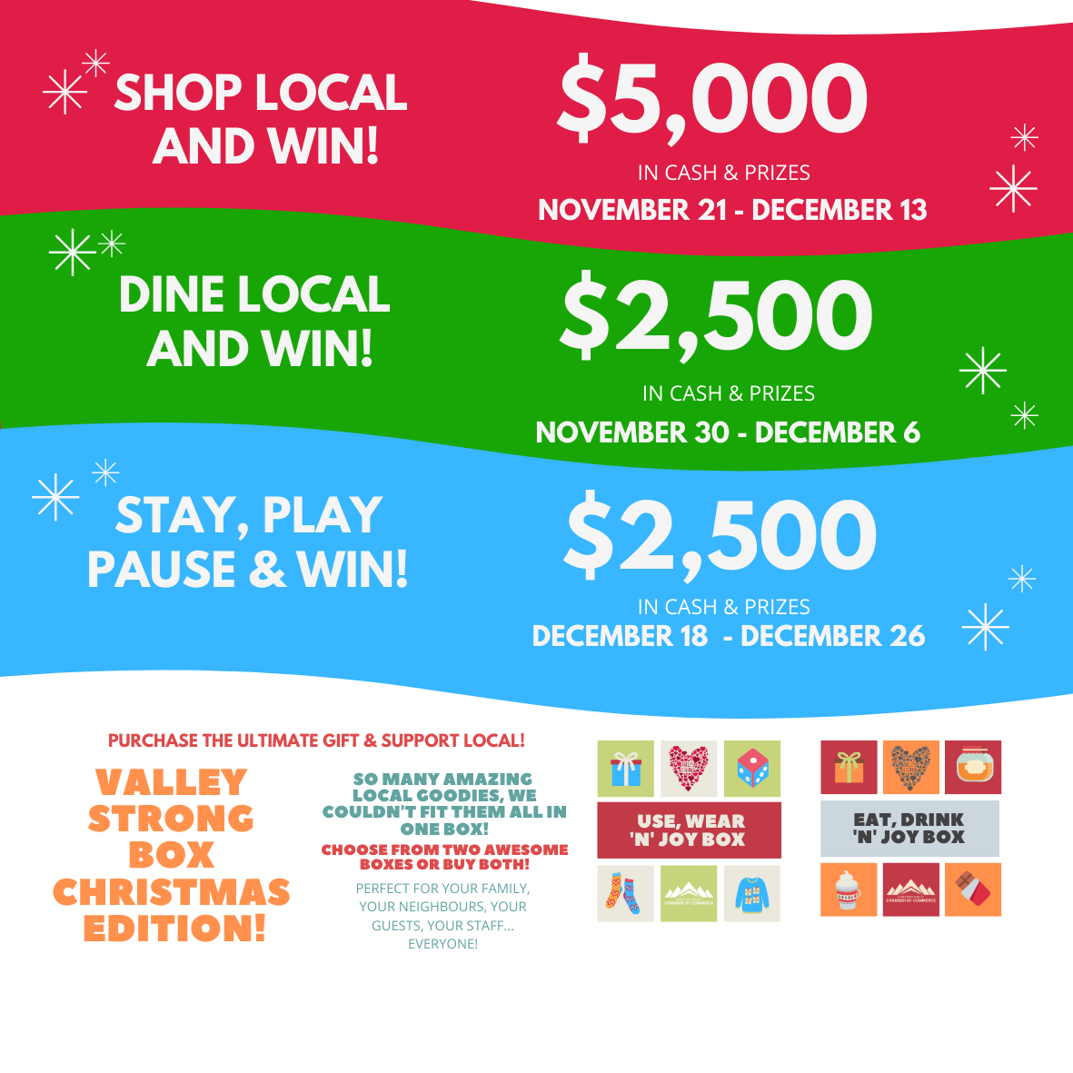 Support Local & WIN 10,000 in Cash & Prizes